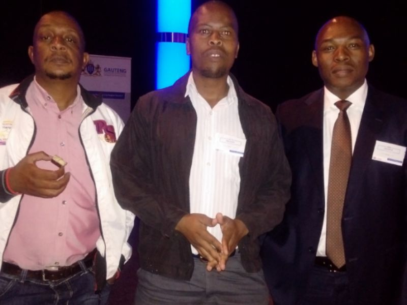 DGBF leadership from left to right, Naftali, Richard Ntjana (Secretary) and Sihle Ngubeni(Chairperson).